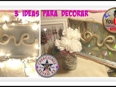 3 ideas para Decorar: DIY Mason Jar Room Decor!.Ideas para 14 de febrero SAN VALENTIN