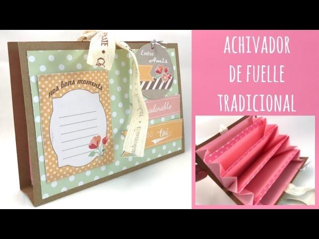 Archivador de fuelle tradicional con sobres. TUTORIAL FÁCIL