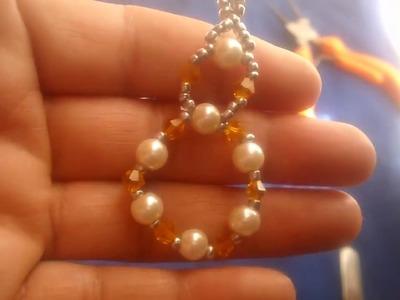 Aretes argolla de perlas y chaquiras paso a paso