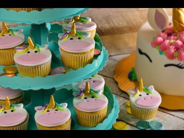 Cómo Decorar Cupcakes De Unicornio Con Fondant Súper Fácil