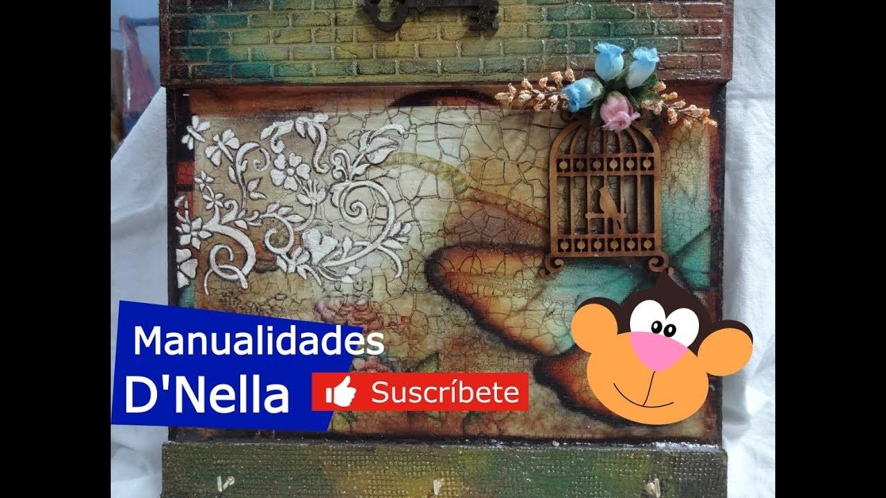 """Como Hacer Craquelado en Papel Fácil  y Rapido ,By """"Taller Nella """" 2017"""