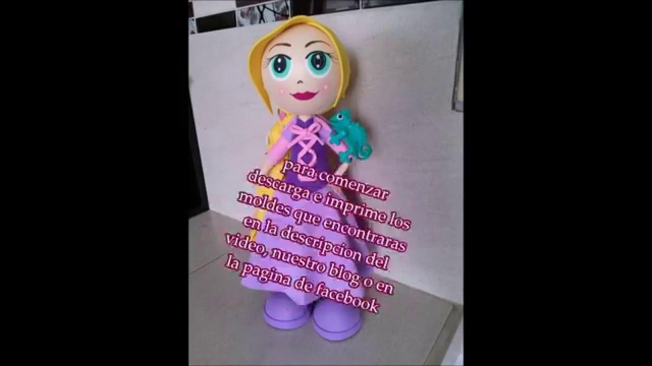 Como hacer una fofucha de Rapunzel, enredados, tangled