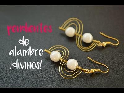 Cómo hacer unos pendientes de perlas con alambre paso a paso
