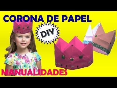 CORONA DE PAPEL |  MANUALIDADES CON PAPEL |   MANUALIDADES
