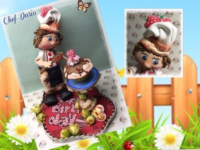 Creaciones Mamen 3ª parte Aula Virtual Gratis Chef-Darío paso a paso hecho con gomaeva ( Foamy )