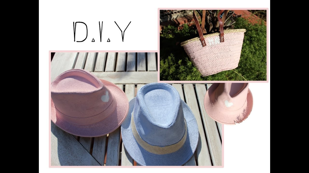 D.I.Y- Customiza tus sombreros y capazos