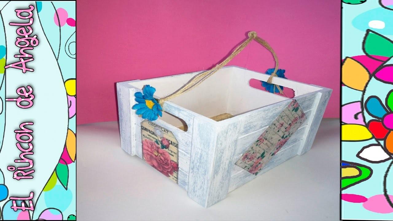 DECAPE con pintura chalk paint, en una caja de madera, Hazlo tu misma