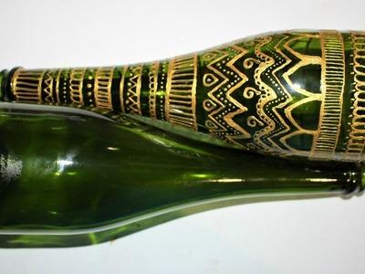 Decoración botella de vidrio- reciclaje DIY