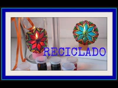 DIY - Cómo hacer candeleros con vinilos y lacas caseras - Tutorial - Reciclado - Recycling