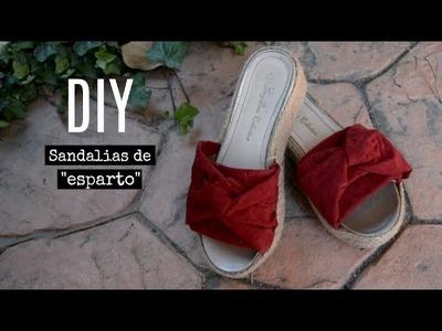 DIY Sandalias de esparto  - Transformación | Monica Beneyto