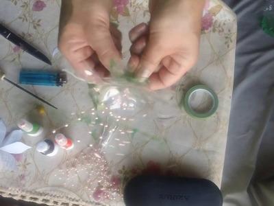 Flor de botellas reciclada