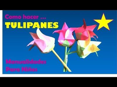FLORES  | MANUALIDADES PARA NIÑOS CON FLORES |  FLORES PARA EL 10 DE MAYO