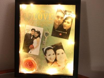 Ideas para regalar este día del amor y de la amistad. Marco con Fotos y Luces