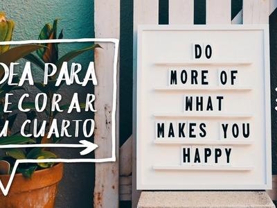 ????¡DIY DECORA TU CUARTO O HABITACIÓN! | DIY Letreto de Mensajes ✨ Alejandra's Styles
