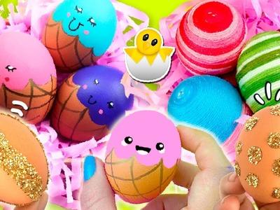 ¡¡Decora tus HUEVOS de PASCUA!! * 3 IDEAS originales, fáciles y BONITAS de decoración de huevos