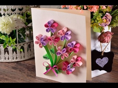 Manualidad Tarjeta de Filigrana para el Día de la Madre