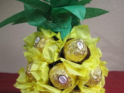 Piña Ferrero Roche de los enamorados +Tutoriales
