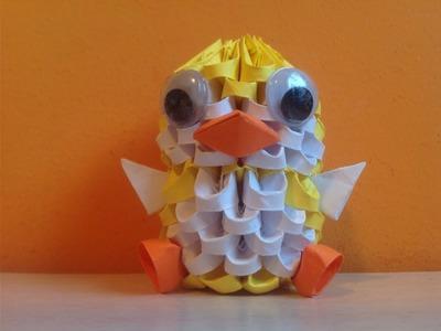 Pingüino de Origami 3D - Tutorial