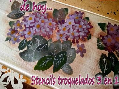 STENCILS TROQUELADOS 3 EN 1. Parte 3-3