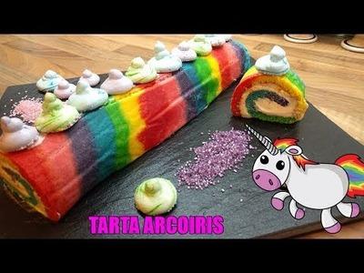 Tarta Arcoiris - Tarta Unicornio. Easy Rainbow Unicorn Cake