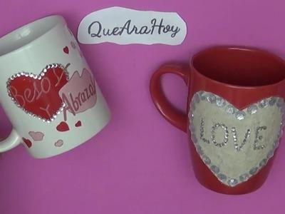 Tazas para regalar en San Valentín.