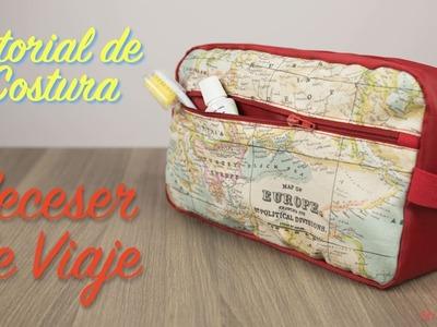 """Tutorial de Costura - Como hacer un Neceser de Viaje Impermeable - Especial """"Dia del Padre"""""""