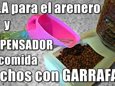 2 Ideas para reciclar GARRAFAS: DISPENSADOR Y PALA | Anabel Golop