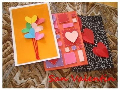 3 Ideas de tarjetas para San Valentin