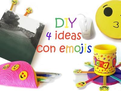 4 Manualidades para el cole de tus niños , como hacer  emojis fáciles y  divertidos!!