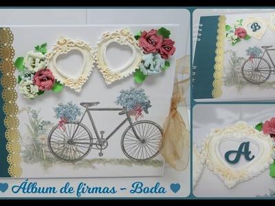 Álbum de firmas de boda - Paso a paso (Dayka - Scrapbooking)