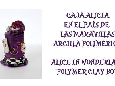 Caja Alicia en el País de las Maravillas en arcilla polimérica|Alice in Wonderland polymer clay box