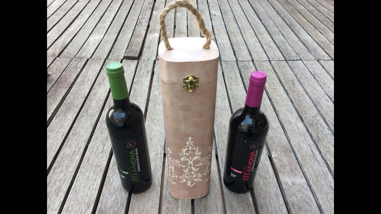 Caja de vino decorada con relieve - D.O. La Mancha