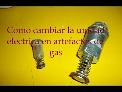 Como cambiar la unidad electrica de artefactos a gas