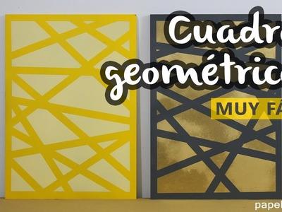 Cómo hacer cuadros con spray abstractos geométricos. MUY FÁCIL Y RÁPIDO