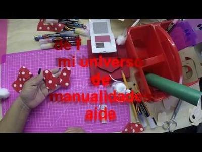 Como hacer moño minnie mouse  estampado de tela con silicon frio