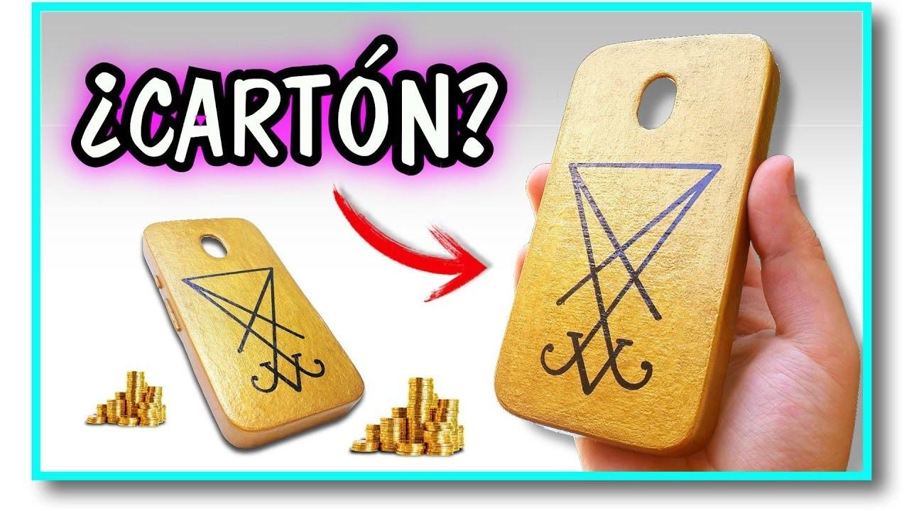 Cómo hacer una funda para el celular CURVO con ¿CARTÓN? | Pablo Inventos