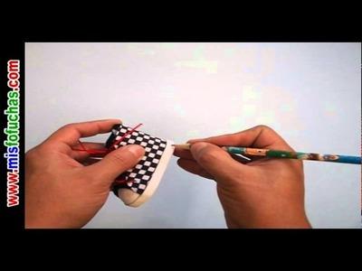 Cómo hacer Zapaticos en foamy estampados para fofuchas en foamy Parte 2