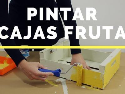 Cómo pintar cajas de madera de fruta