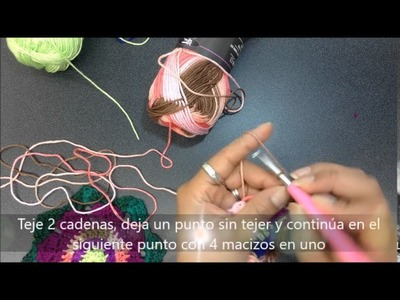 Cómo tejer un Mandala parche tejido en gancho con hilaza Río - Estambres Karina