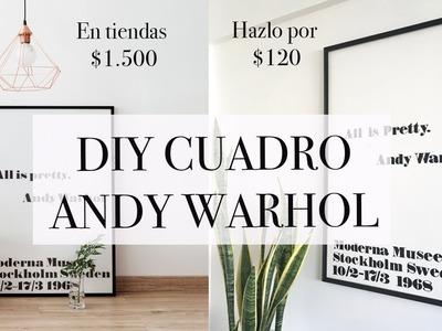CUADRO CON VINILO ADHESIVO. ALL IS PRETTY ANDY WARHOL DIY