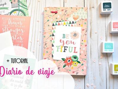 Diario de viaje scrapbooking + tutorial | Travel Book | Travel Journal | Scrapeando con Rocío
