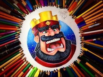 Dibujando al Rey de Clash Royale (colaboración con grandes artistas) Dibujos XD