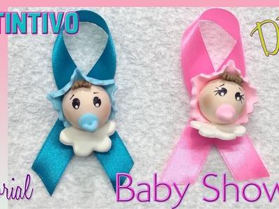 Distintivos Baby Shower en porcelana fría recuerdos souvenirs