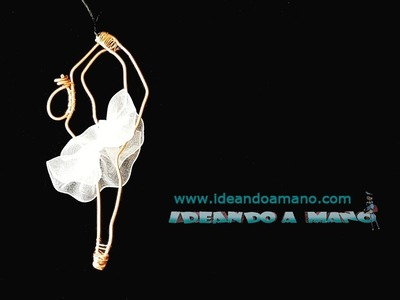 DIY bailarina colgante con hilo de cobre