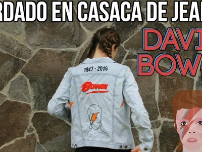DIY : BORDA TU CASACA DE JEAN. BORDADO DAVID BOWIE