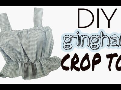 DIY CROP TOP GINGHAM. CAMISA CORTA | Katirya Rodriguez