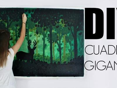 DIY: CUADRO GIGANTE DE BOSQUE