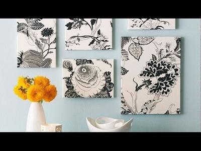 DIY: cuadros de telas fáciles de hacer y hermosos -yeyari????