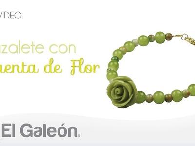 DIY El Galeón Brazalete con Cuenta de Flor