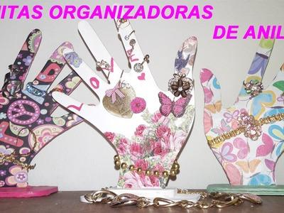 DIY ORGANIZADOR!! Manitas organizadoras de anillos.